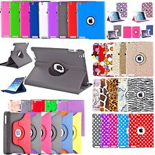 360 Rotating Leather Case For Apple iPad 2 3 4 5th 6th Gen Mini Air Pro 3rd