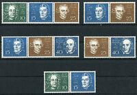 Bund Nr.315 - 319 Zd sauber postfrisch alle Zusammendrucke Beethoven Block 2 BRD