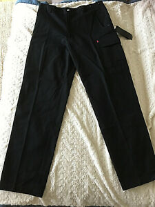 KING GEE Mens Navy Cotton Work Pants  92R Cargo Pockets  New  BNWT!