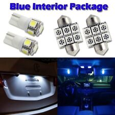 4 Blue Led Interior Lights Package DE3175 Festoon+ 2 White T10 194 Bulb