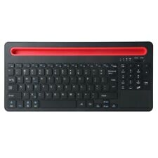 QIANYE B021 Bluetooth Wireless Keyboard - Black with Orange Concave