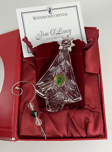 Waterford Crystal 2012 Annual Christmas Tree Ornament Artist Signed Jim O' Leary