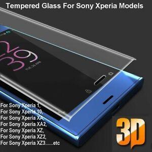 For Sony Xperia 1 XA1 XA2 XZ XZ2 XZ3 Full Curved Tempered Glass Screen Protector