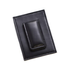 Bey Berk Black Leather Magnetic Money Clip & Wallet with ID Window