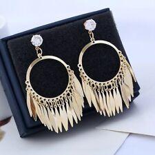 Long Dangle Drop Chandelier Earrings-Mystery Beautiful Elegant Fancy Gold Color