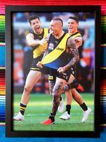 ✺Framed✺ 2019 RICHMOND TIGERS AFL Premiers Poster DUSTIN MARTIN - 45 x 32 x 3cm