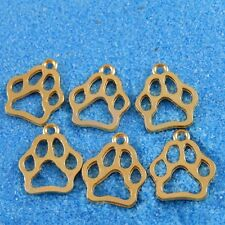 Antique Gold Alloy Animal Footprints Charms Pendants Crafts Findings 40pcs 38406