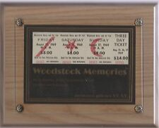 STRIP OF 3 UNUSED WOODSTOCK TICKETS,FRAMED, WITH SOTHEBY'S AUTHENTICATION LETTER
