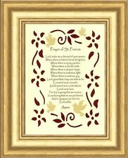 SMALL - PRAYER OF ST FRANCIS OF ASSISI LORD MAKE ME AN INSTRUMENT - GOLD FRAME