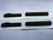 2 x Full matt black Sline wing badge + 2 x Quattro Badge set (for Audi)