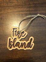 Fire Island New York NY XMAS Ornament Christmas Wood