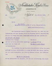 NAPOLI BREMEN, Brief 1909, Nordeutscher Lloyd di Brema, Adelmeyer & Co. Agenti