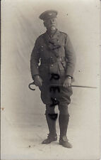 WW1 Officer South African Forces SAI ? wears wrist watch & miniature decoration