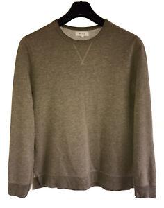 New RIVER ISLAND Premium Cotton Fleece Lined Casual Sweatshirt Med Wheat Khaki