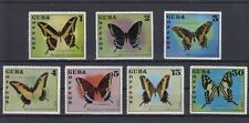 TIMBRE STAMP 7 CARAIBES Y&T#1605-11 PAPILLON BUTTERFLY NEUF**/MNH-MINT 1972~B93