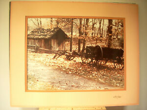 LARGE RURAL COUNTRY FARM AMERICANA ART PHOTOGRAPH MATTED