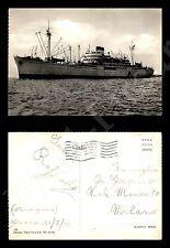 Nave a Genova - 20.8.1952 - francobollo asportato - Formato Grande