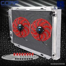 """New Performance Aluminum Radiator For FORD MUSTANG MT&AT+12"""" Radiator Fan"""