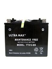 Genuine UltraMax YTX12-BS, 12V 10AH 160 CCA Motorbike Motorcycle Battery
