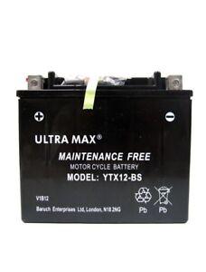 ULTRAMAX TTX12-BS, 12V 12AH FOR MOTORCYCLE, MOTORBIKE, QUAD BIKE, JET SKI
