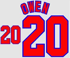 World Cup 1998 Owen 20 England Home Football Name set for National shirt