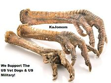 "6 Count 8-10"" TURKEY FEET Dog Chew Treat Dental *USA*  Natural FRESH"
