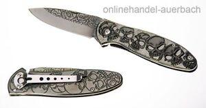 HERBERTZ 564612 Totenkopf Skull Taschenmesser Klappmesser Messer