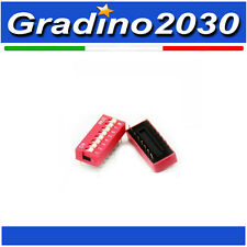 Interruttore dip switch a 8 contatti passo 2,54mm vie poli pin commutatore dil