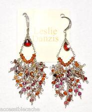 "Leslie Danzis Sapphire & Beads 2.5"" Long Chandelier Sterling Silver Earrings"