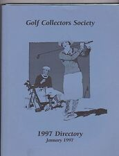 1997 GOLF COLLECTORS SOCIETY MEMBERSHIP DIRECTORY