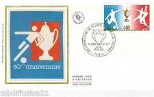 1977**ENVELOPPE SOIE**FDC 1°JOUR**COUPE DE FRANCE DE FOOTBALL**TIMBRE Y/T 1940