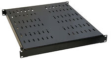 1u Adjustable Black Server Rack Shelf 530mm-1005mm Comms Studio Data DJ PA Gear