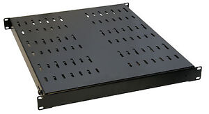 1U Rack Shelf Adjustable depth 530mm-1005mm for 19 inch rack