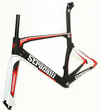 STRADALLI RD17 CARBON FIBER AERO DISC BRAKE ROAD BIKE BICYCLE FRAME SET 48CM XS