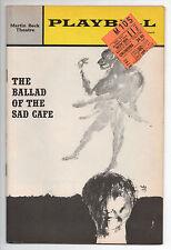 Ballad Of The Sad Cafe Martin Beck Theatre Playbill 1963 Colleen Dewhurst VG
