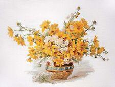 """Counted Cross Stitch Kit MARYA ISKUSNITSA (MARY WEAVER) - """"Yellow camomiles"""""""
