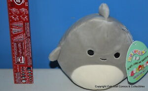 """Squishmallow Kellytoy Gordon The Baby Shark 5"""" 5 Inch New With Tags! CUTE!"""