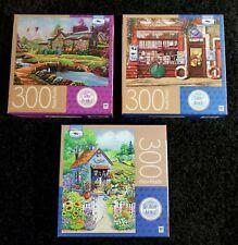 "3 Puzzles 300 pc. ""Dreamscape"", ""Garden Shed"" & ""Lezione de Acquario"""