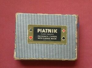 Vintage Piatnik Empire Patience miniature Playing Cards Twin Deck & Rules