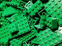 100 LEGO RANDOM BULK LOT GREEN BRICKS PLATES PARTS PIECES  FREE SHIPPING