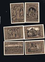 6x Notgeld Serie 50 PF EISENACH Thüringen Luther-Feier 1921  Wartburg
