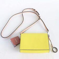 OROTON Estate Bag Mini Crossbody Shoulder Bag Yellow Saffiano Leather RRP$225