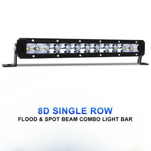 12inch Single Row 208W Led Light Bar Combo Offroad For Jeep Wrangler Nissan Ford