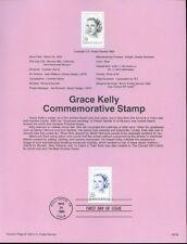 FDC  # 2749  29 cent GRACE KELLY 1993 USPS Souvenir Page Stamp