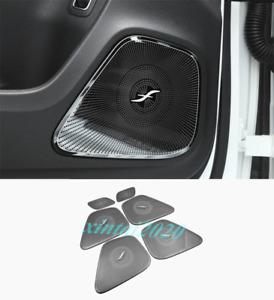 For Benz A Class W177 2019-2020 Black titanium Car Door Audio Speaker Cover Trim