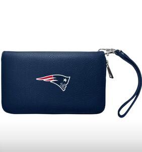 NFL New England Patriots Zip Organizer Wallet Pebble *New*