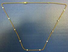 "Diamond Station 18"" NECKLACE 0.35 TCW BEZEL-SET IN 18 K Yellow Gold"