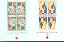Gabon 1967 Red Cross sg.MS296 the two miniature sheets in folder MNH