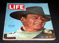 LIFE MAGAZINE MAY 7 TH 1965 JOHN WAYNE IN COWBOY HAT