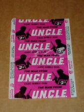 The Man From U.N.C.L.E. 1966 A & BC Bubble Gum Wrapper